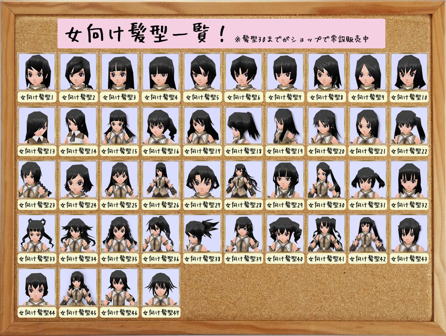 \u203b「女向け髪型14」のことです。