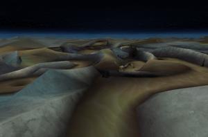 広大な砂地の広がる「ドリゾラ荒野」